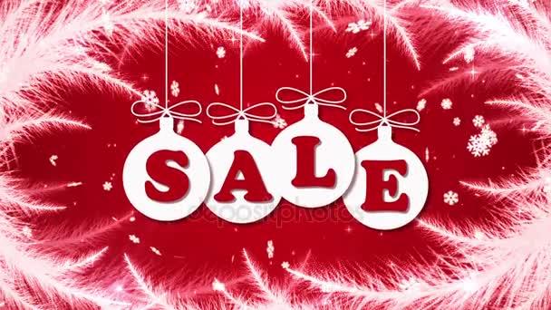 A fagy minták, hulló hópelyhek és labdák karácsonyfa karácsony kiárusítás