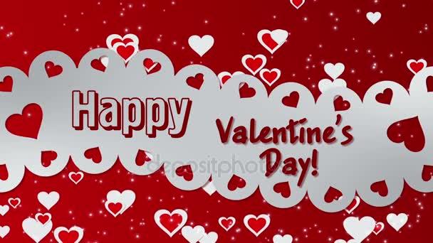 Boldog Valentin-napot, szívvel és izzó részecskék