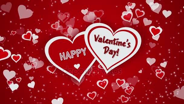 Šťastný Valentýn s srdce a zářící částice