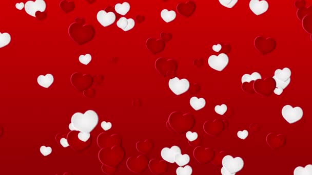 Red background with a hearts