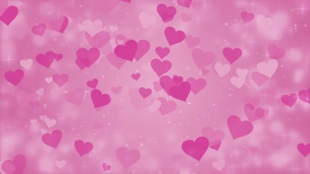 Pink background with hearts, Valentines Day