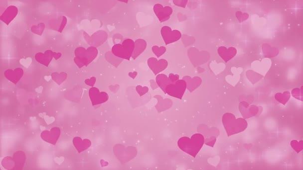 Růžový pozadí s srdce, Valentýn