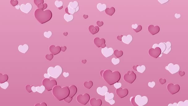 Sfondo Rosa Con Cuori San Valentino Video Stock Pinnk At Mailru
