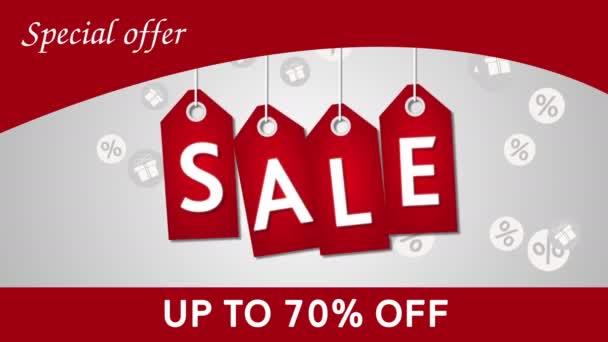 Verkaufsrabatt siebzig Prozent
