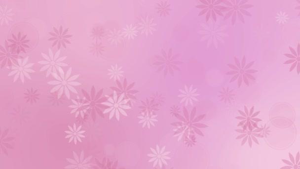 Barevné růžové pozadí abstraktní s květinami
