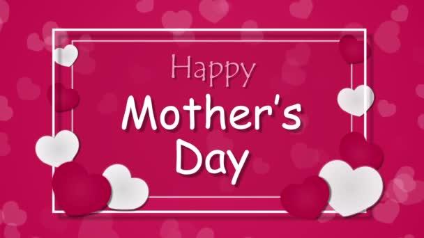 Boldog anyák napja, a szív a rózsaszín háttér