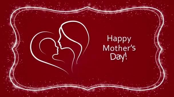 Boldog anyák napja a vörös háttérben