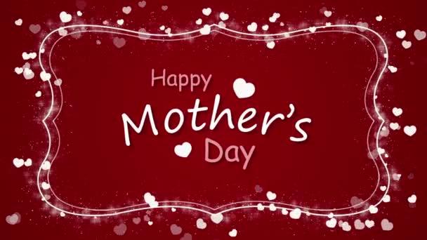 Boldog anyák napja, a szív a piros háttér