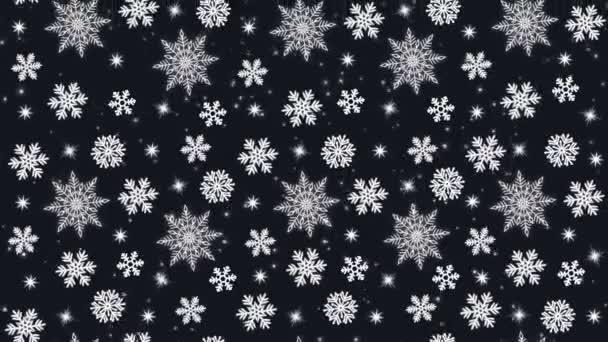 Ezüst hópelyhek a fekete háttér