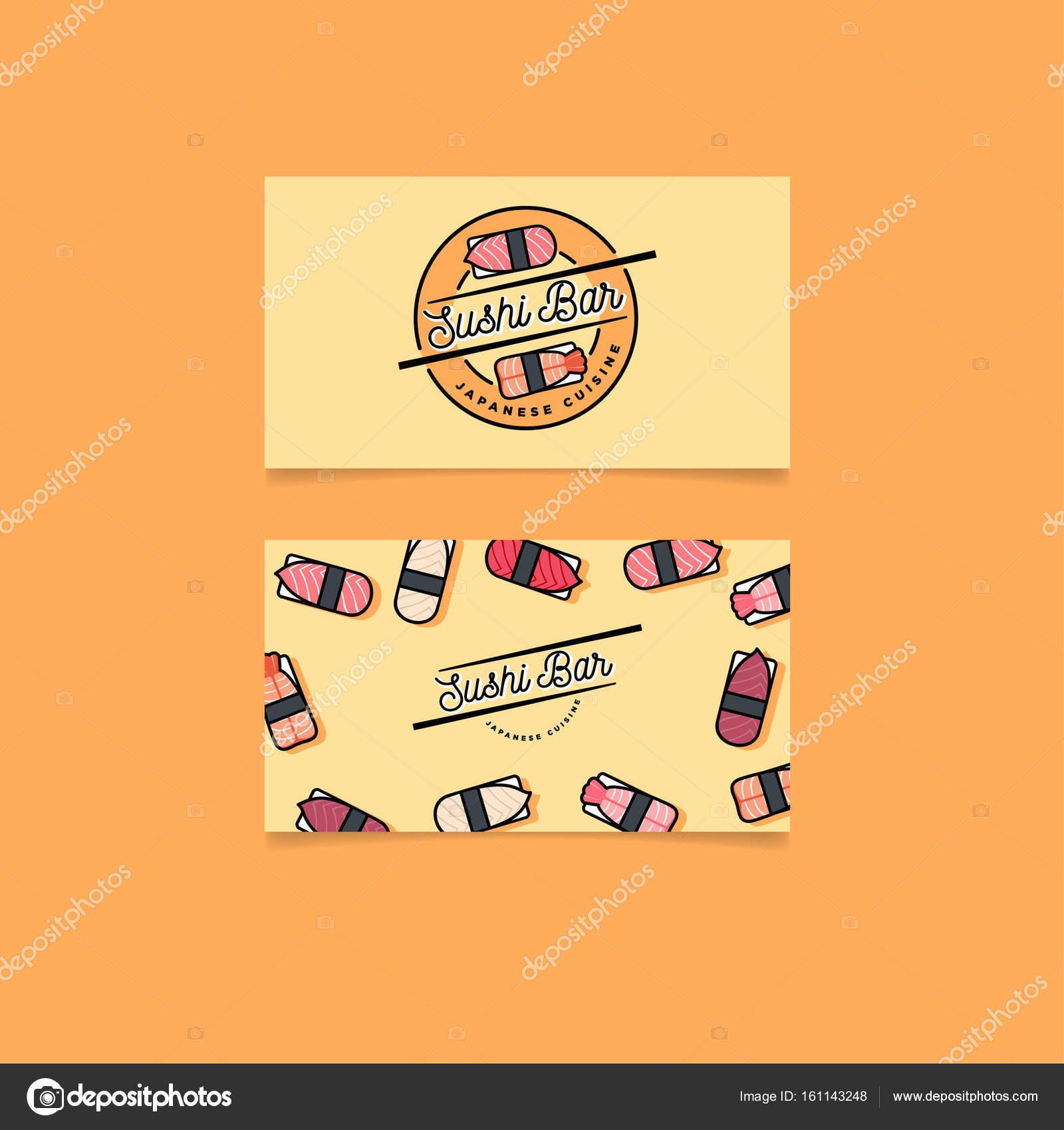 Emblme De La Cuisine Japonaise Icnes Sushis Et Nigiris