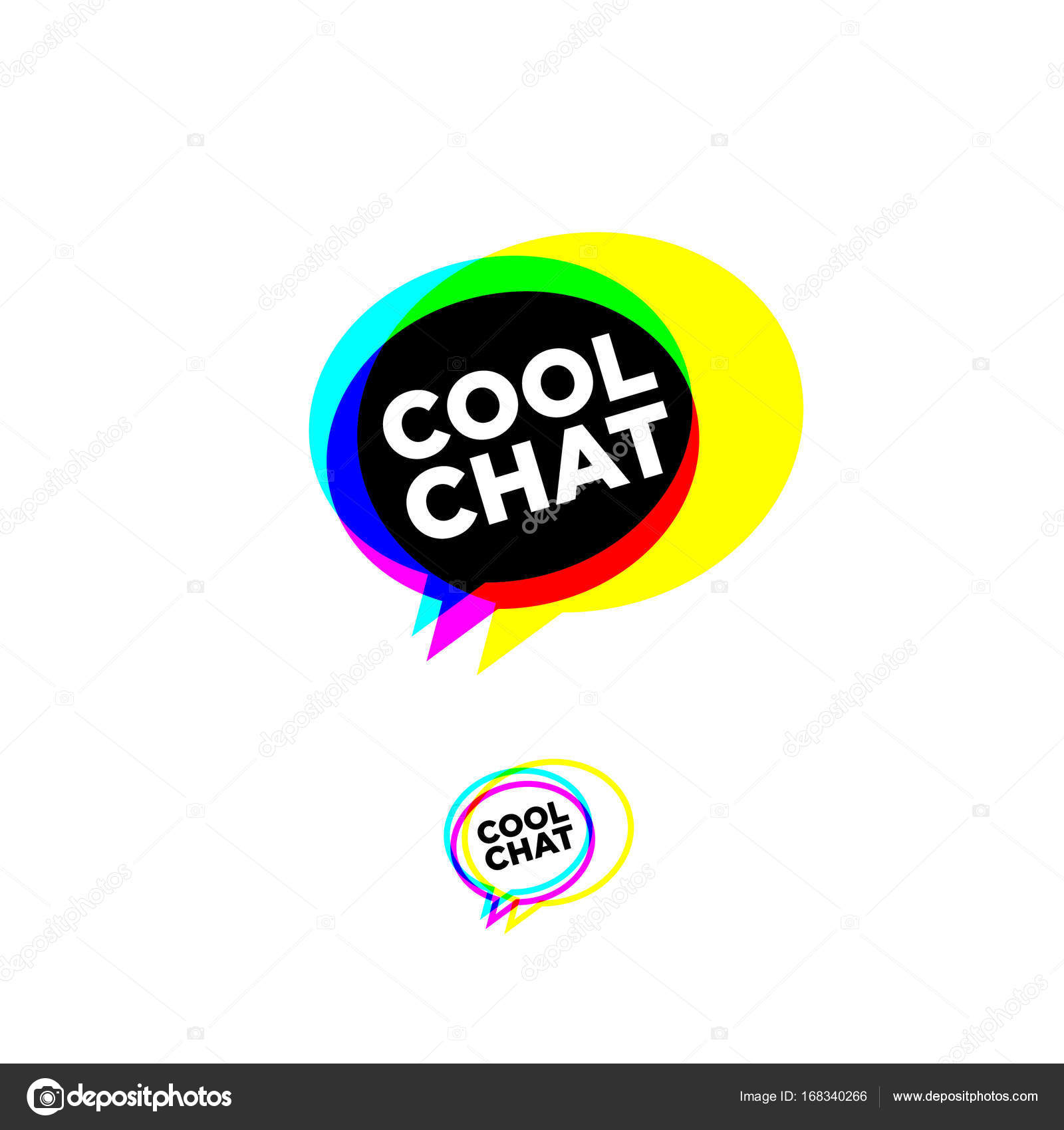 cool chat stereo logo chat emblem stock vector nataly 314 rh depositphotos com stereological stereological imaging