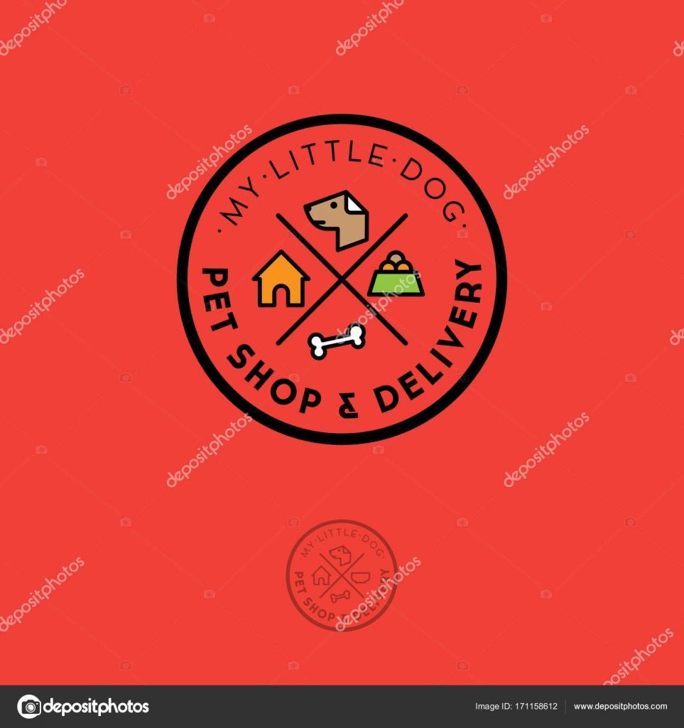 7561bd9e9d5f9f Корм для собак герба. Товари для домашніх тварин– стокова ілюстрація