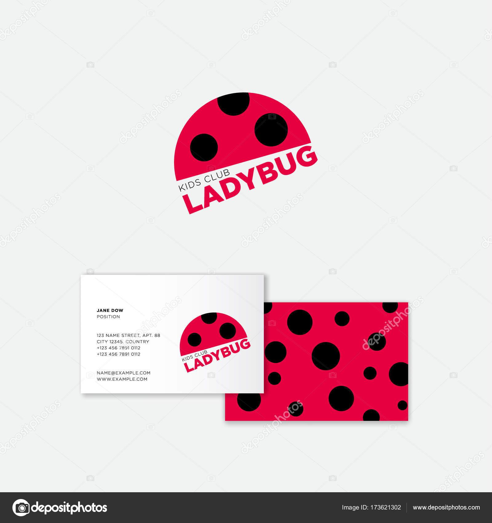 Ladybug logo. Kids Club logo. Flat icon of ladybug. — Stock Vector ...