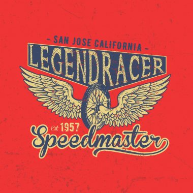 Legend Motorcycles Club Vintage Racers T-Shirt Design