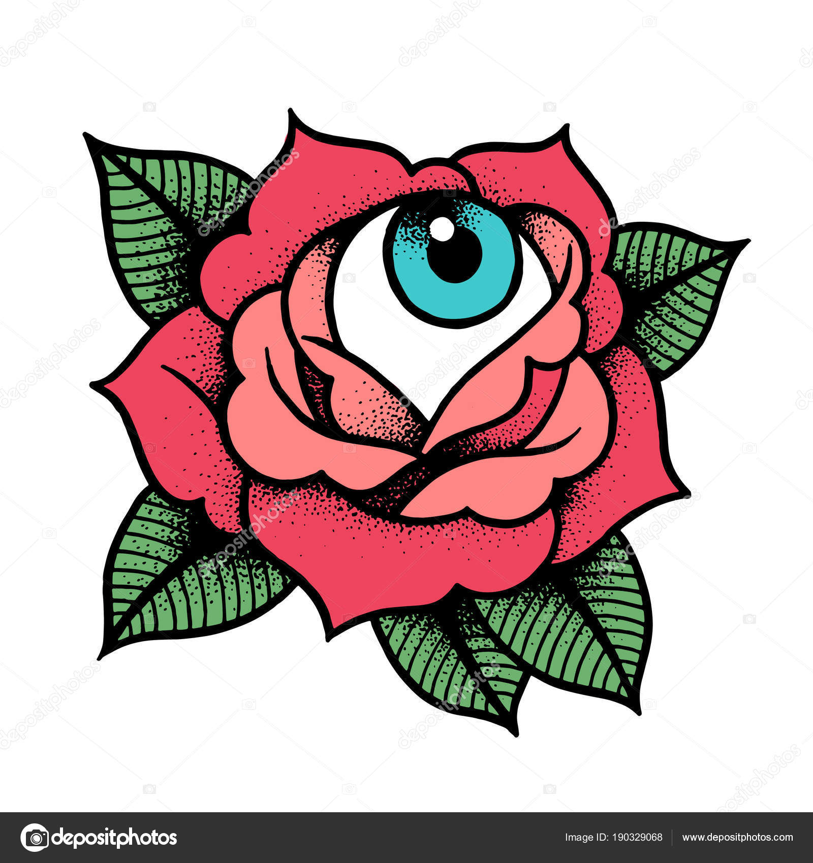 Rosa Old School Tattoo Di Matteo Marameo Empire Tattoo Studio