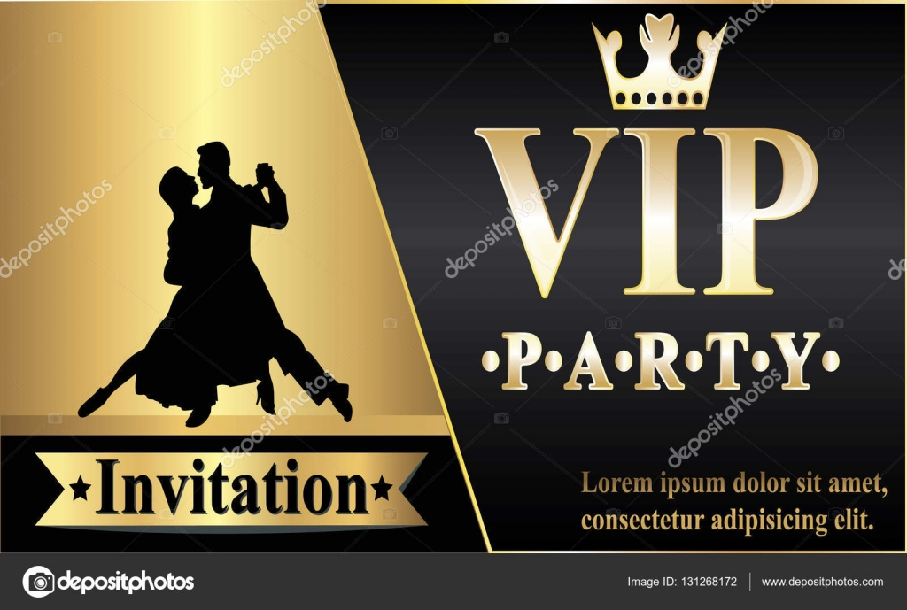 Premium Vip Party Invitations Posters Flyers Black And Gold Design