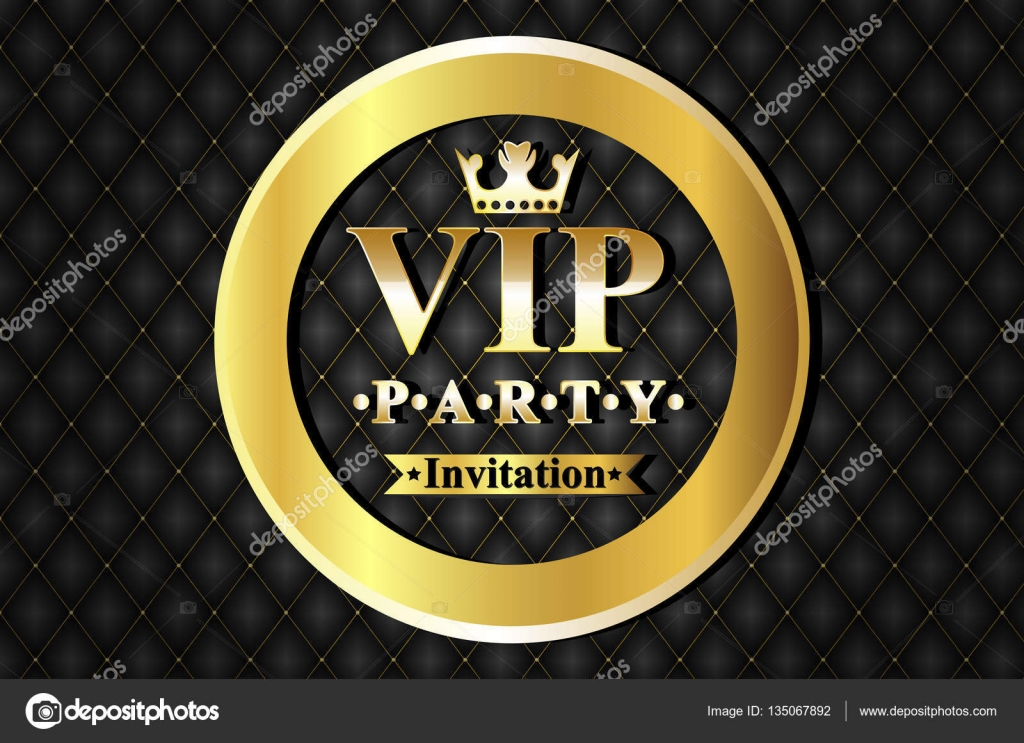 Vip party premium invitation cards posters flyers black and vip party premium invitation cards posters flyers black and golden design template set stopboris Image collections