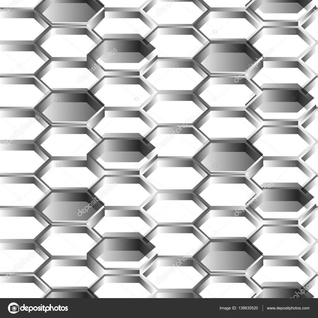 fondo blanco sin costuras de hexágonos — Vector de stock © raz234 ...