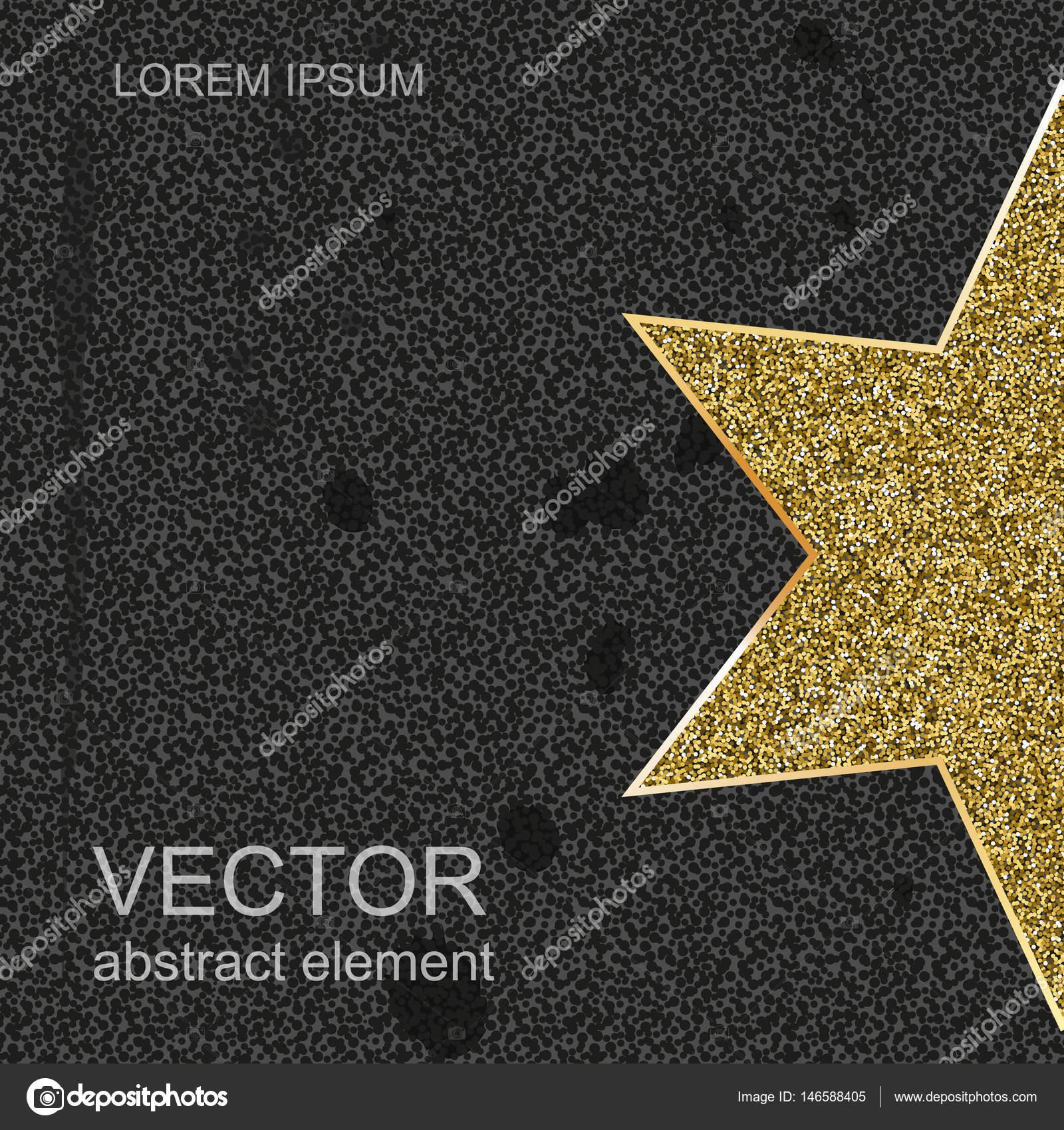 Estrella de oro aislada sobre fondo negro. Vector para su diseño ...