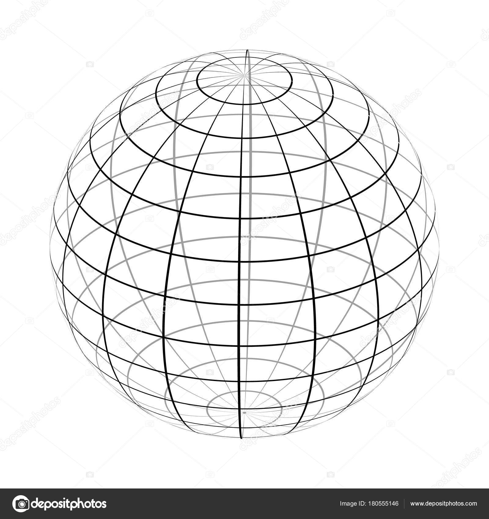 The frame of the earth is a simple black and white form. — Stock ...
