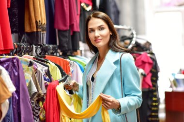 beautiful woman shopping