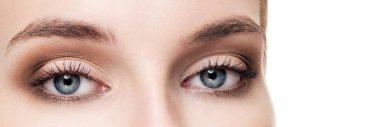 Closeup shot of woman eyes