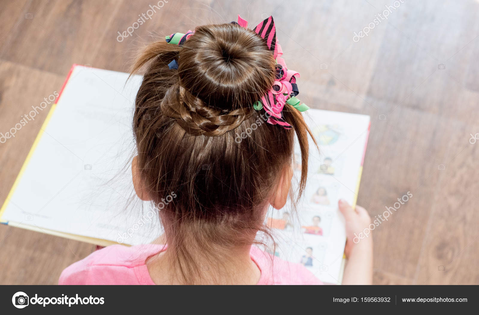 Marvelous Hairstyle Little Girl Braided Hair Stock Photo C Magda Schematic Wiring Diagrams Phreekkolirunnerswayorg