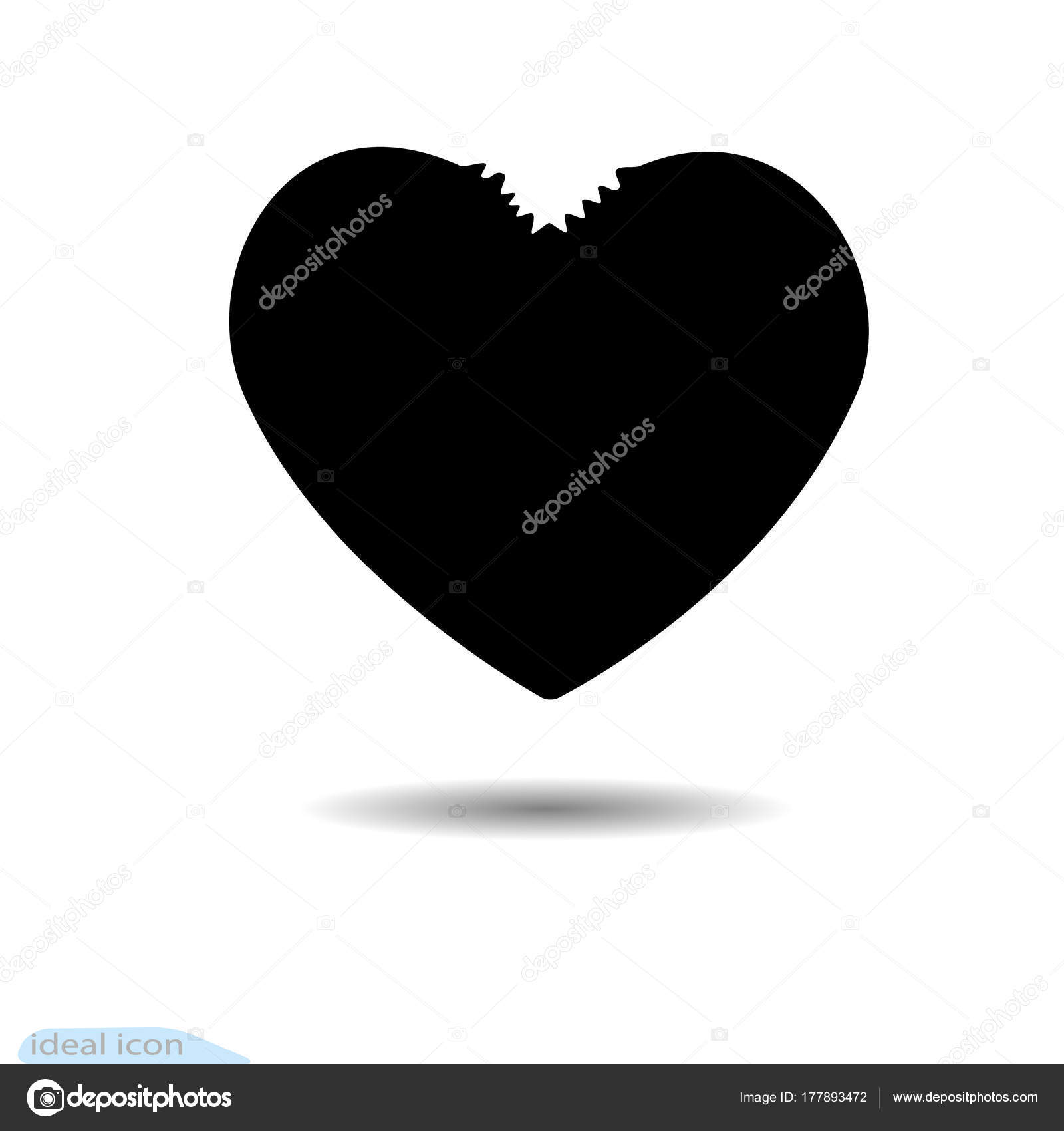 The heart icon a symbol of love valentine s day with teeth flat the heart icon a symbol of love valentine s day with teeth flat style biocorpaavc Images
