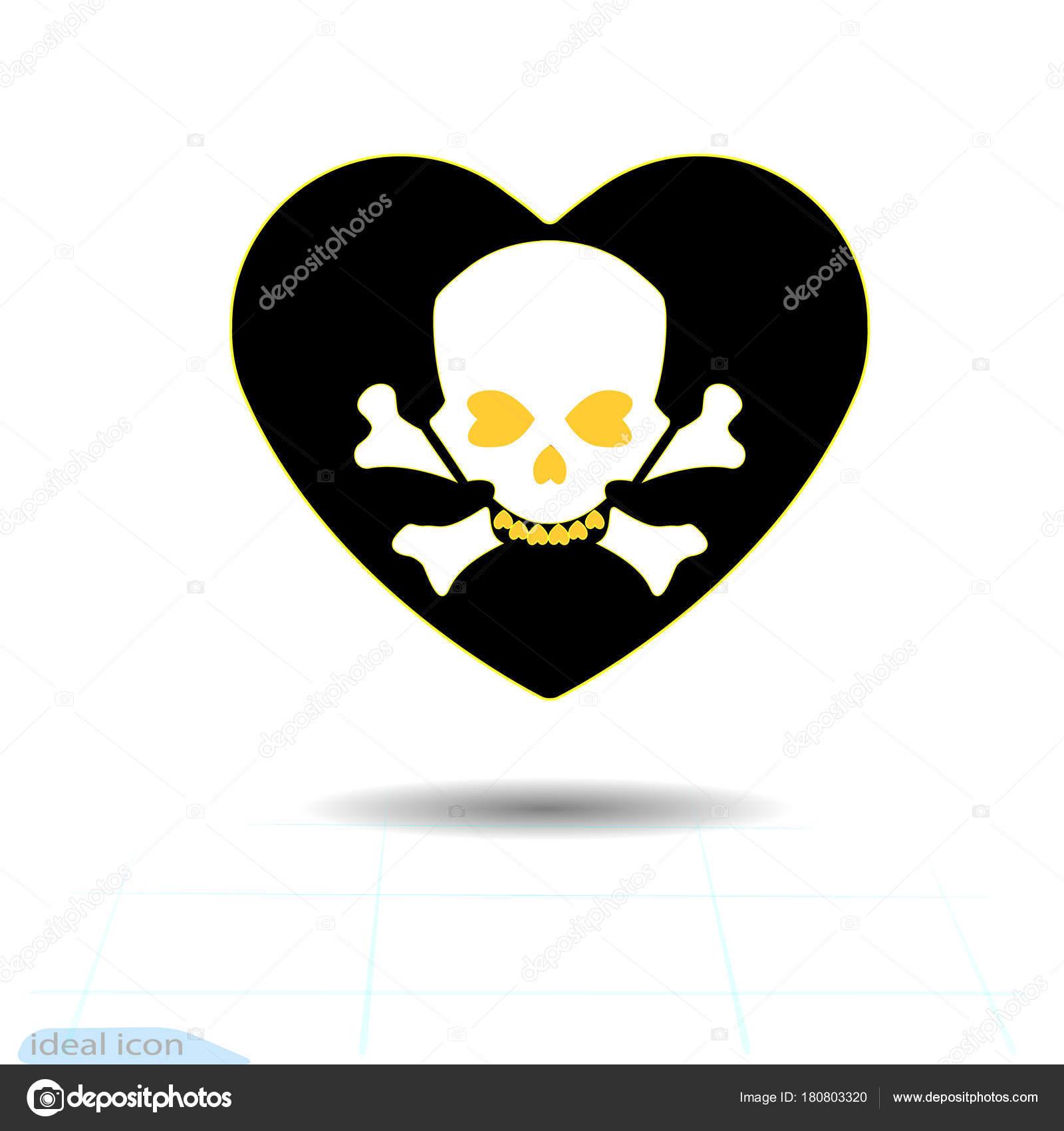 Herz-Symbol. Ein Symbol der Liebe. Valentinstag-s mit dem Zeichen ...