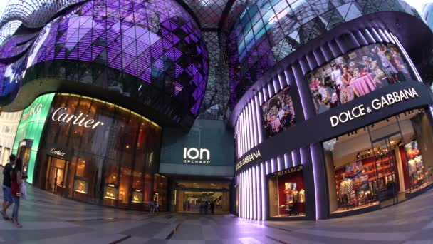 Ion Orchard Mall Shopping District Of Orchard Road Singapore Video By Gavinhellier Stock Footage 129400808