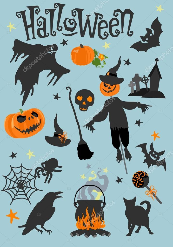 Happy Halloween Greeting Card. Scary Holiday Poster. Vector Illustration. U2014  Stock Vector #