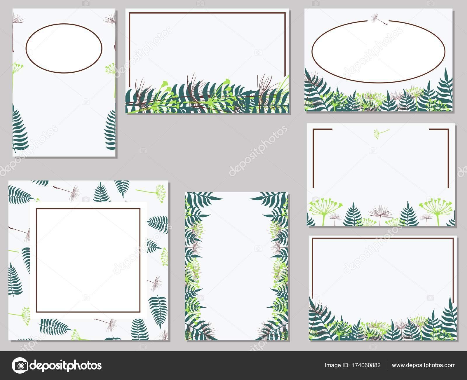 Varianten der Postkarte Vorlagen mit Pflanzenteilen für ...
