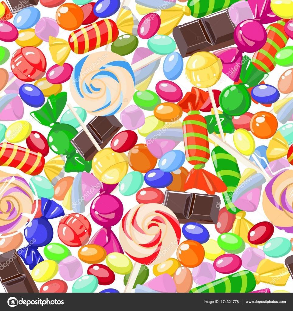 Cukorka minták szopást