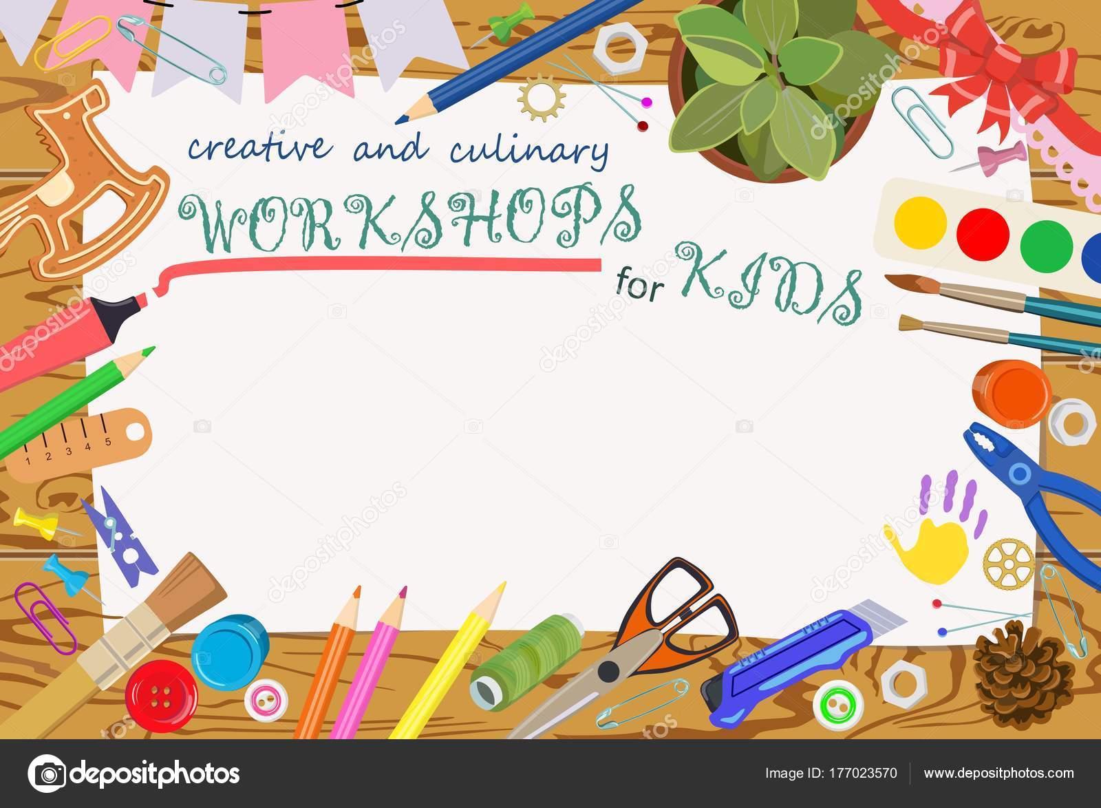 Plantilla de publicidad: las clases artesanales y creativas para ...