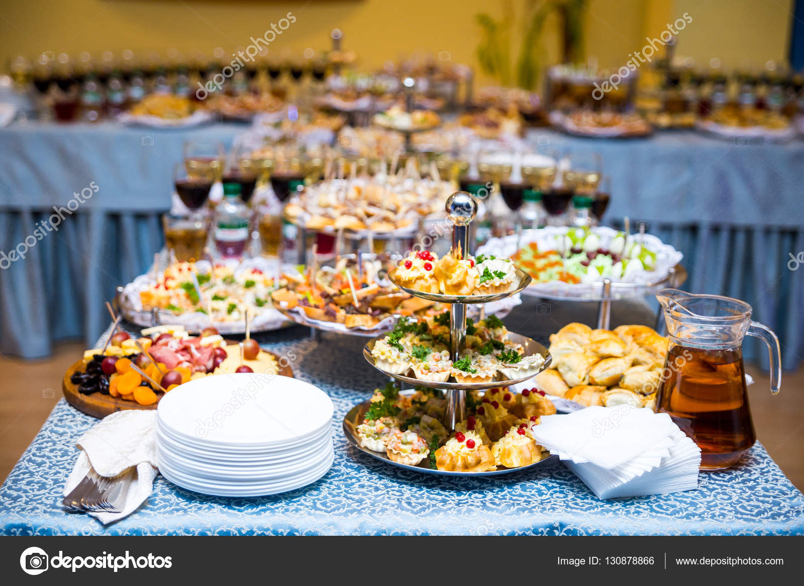 Buffet table canape sandwiches snacks holiday table for Canape table