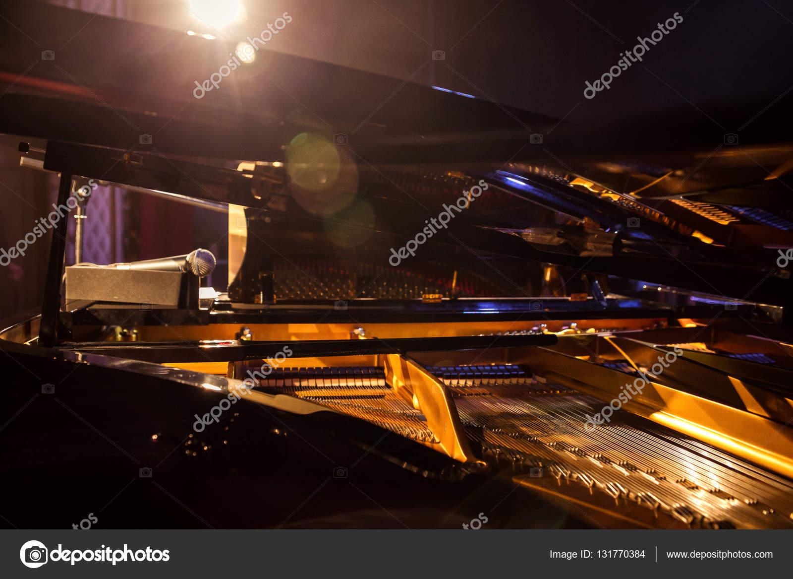 Modello di martelli e corde all 39 interno di pianoforte for Concetto aperto di piani coloniali