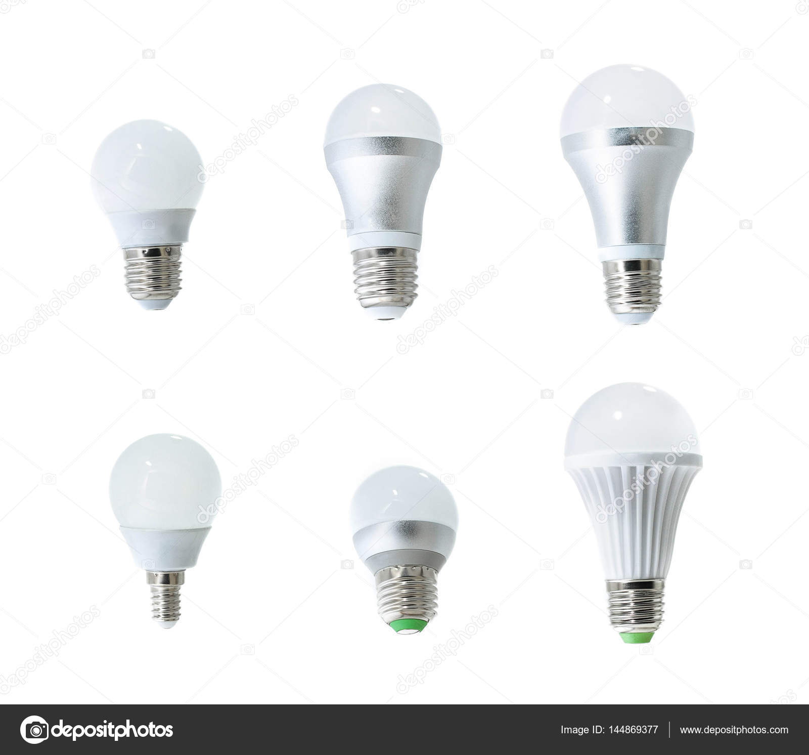 Set of led bulbs on white background collection of different kind set of led bulbs on white background collection of different kind of light bulbs arubaitofo Images