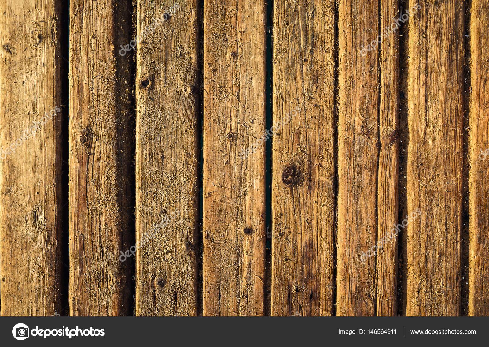 Houten vloer op het strand rustieke houten achtergrond. oude