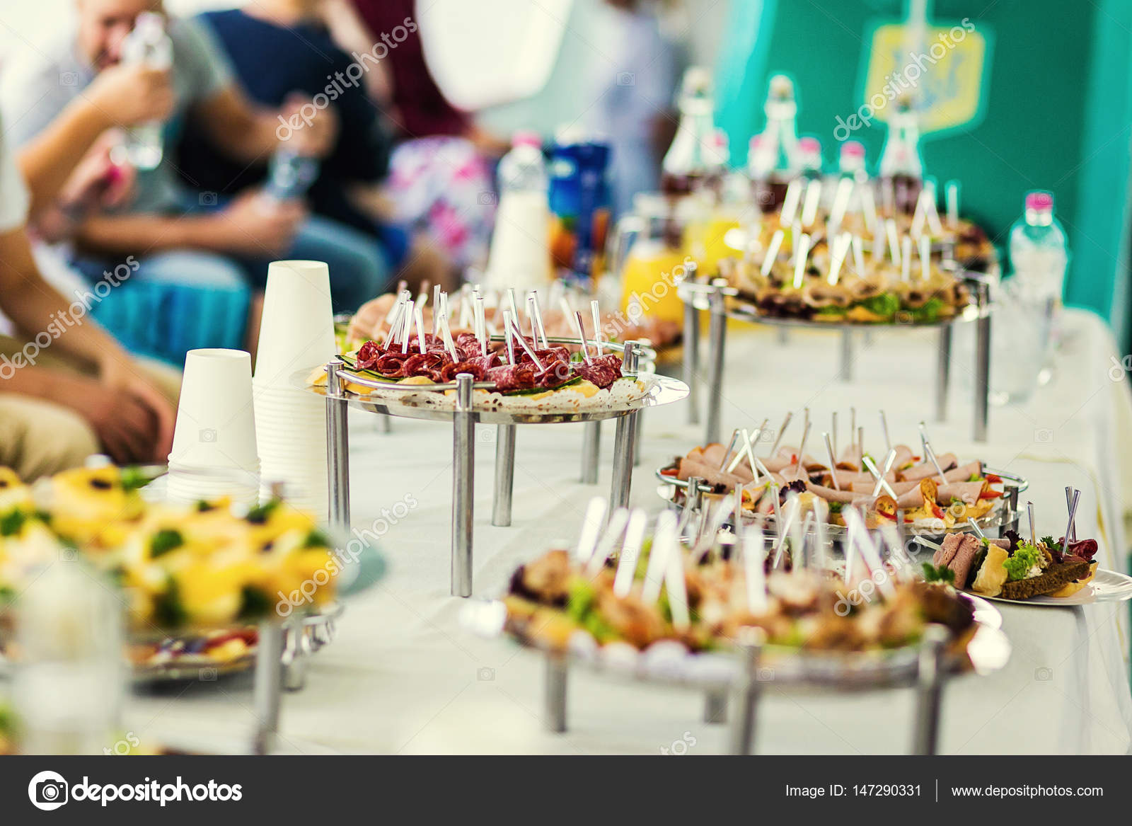 Buffet Table, Canape, Sandwiches, Snacks, Holiday Table, Sliced, Glasses,  Celebration, New Year, Christmas, Fourchette, Catering, Table Setting, ...