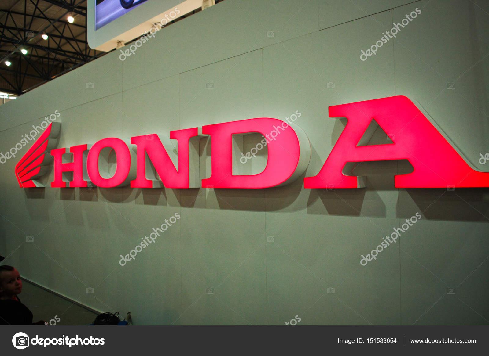 Logo HondaHonda LogotypeHonda International Industrial Company For The Production Of Cars And MotorcyclesDetail Honda Stand Photo By Bondvit