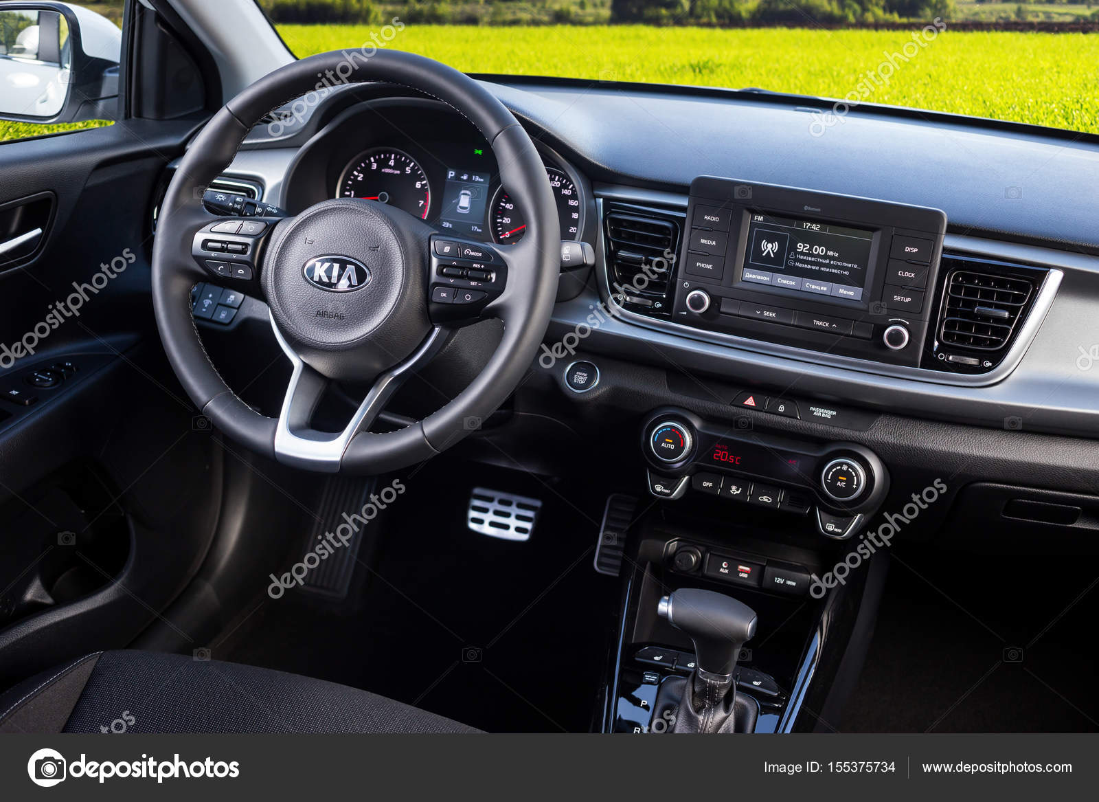 Vinnitsa Ukraine May 19 2017 Kia Rio Concept Car Inside The Car
