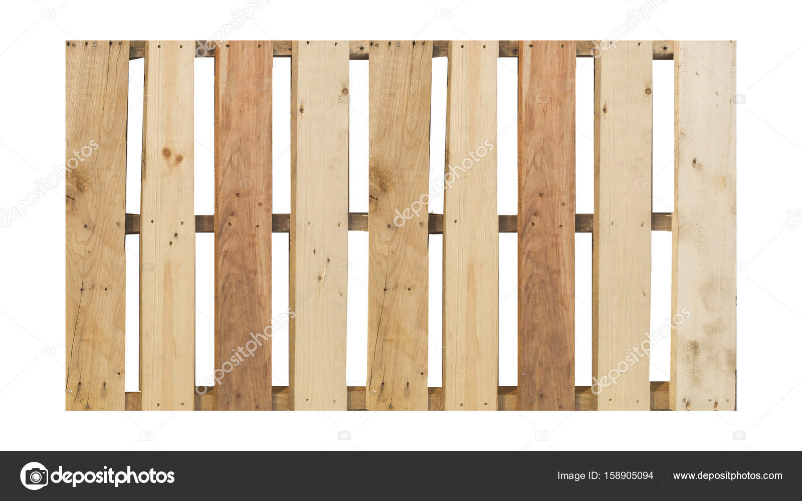 Top View Of Isolated Wood Pallet On The White Background Stock Photo
