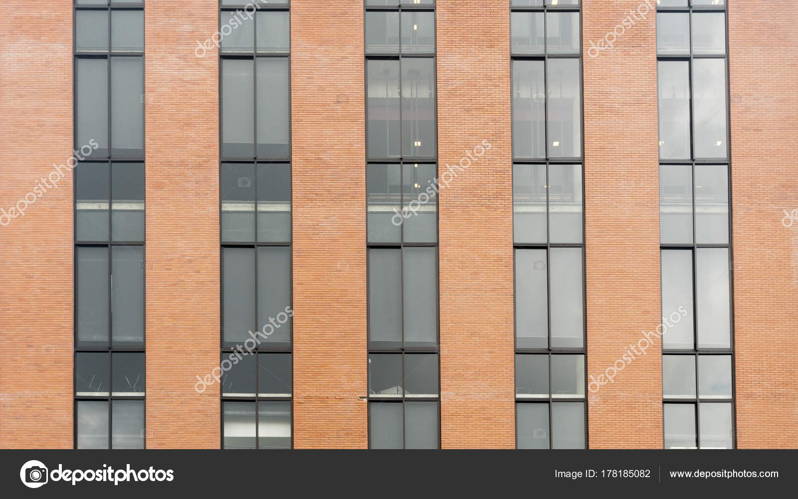 Brick Wall And Glass Exterior Building U2014 Photo By Ultramansk