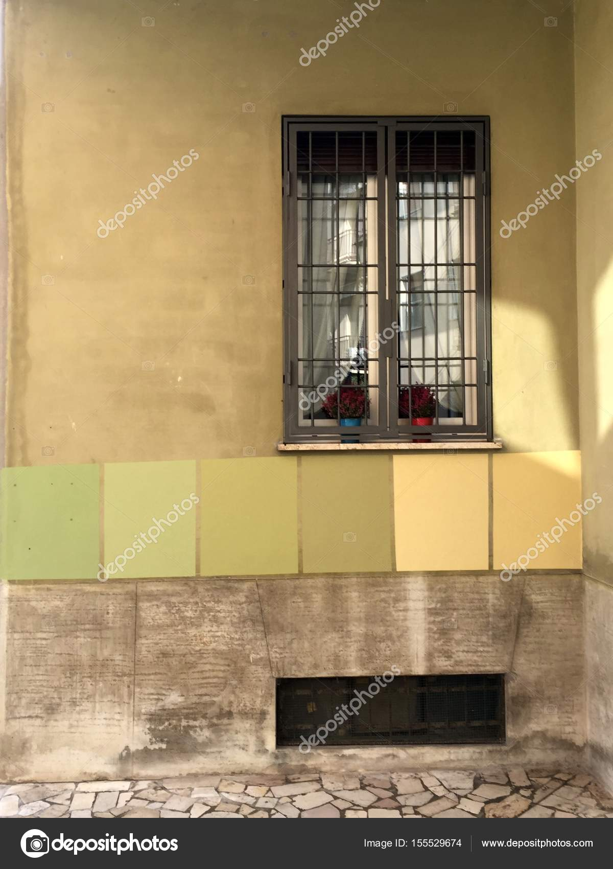 Painting color choice on exterior wall — Stock Photo © elisabono ...