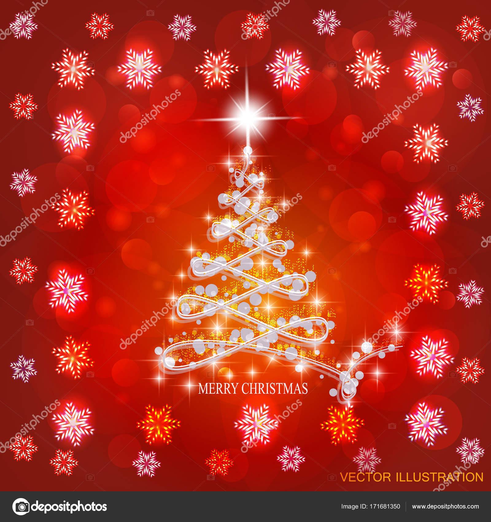 Sfondi Natalizi Luminosi.Illustrazione Natalizio Bianco E Rosso Sfondo Astratto Con