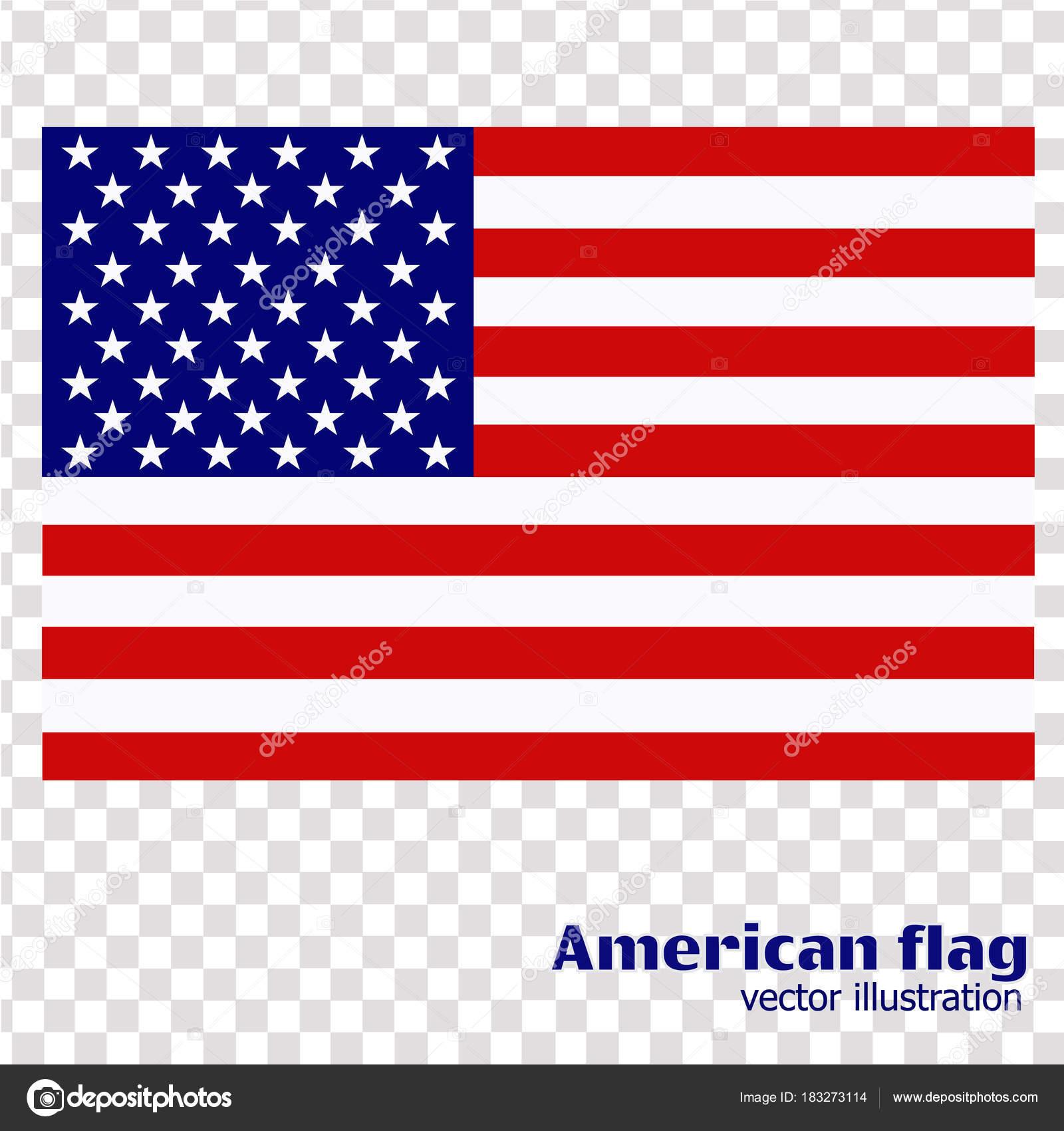 flagge der vereinigten staaten von amerika — Stockvektor ...