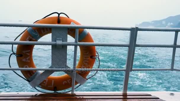 Wasserspur hinter dem Boot