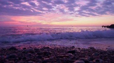 The dawn views of the sea