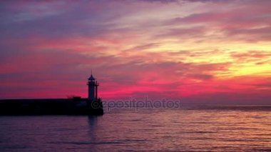 View of the lighthouse at dawn