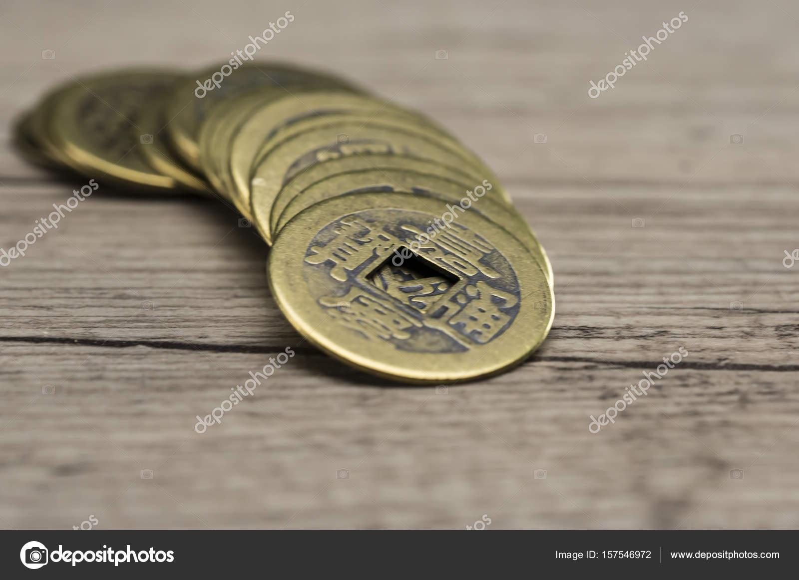 Feng Shui Münzen Stockfoto Purpleanvil 157546972